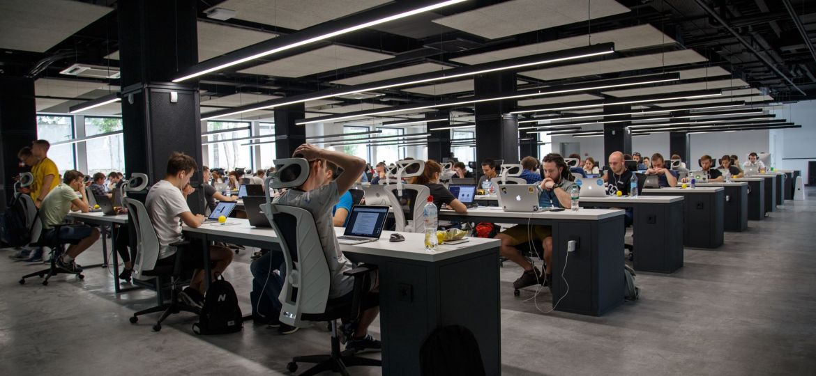 People working on AI recruitment